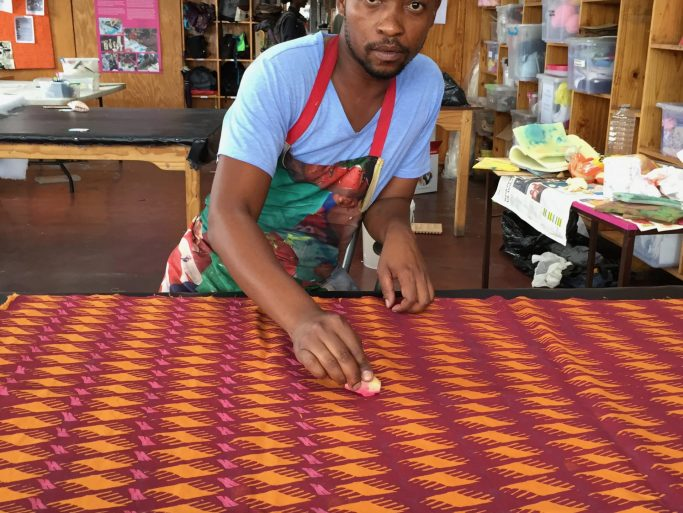 Crafts training_potato print Tshepo